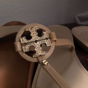 Tory Burch jelly thong flip flops